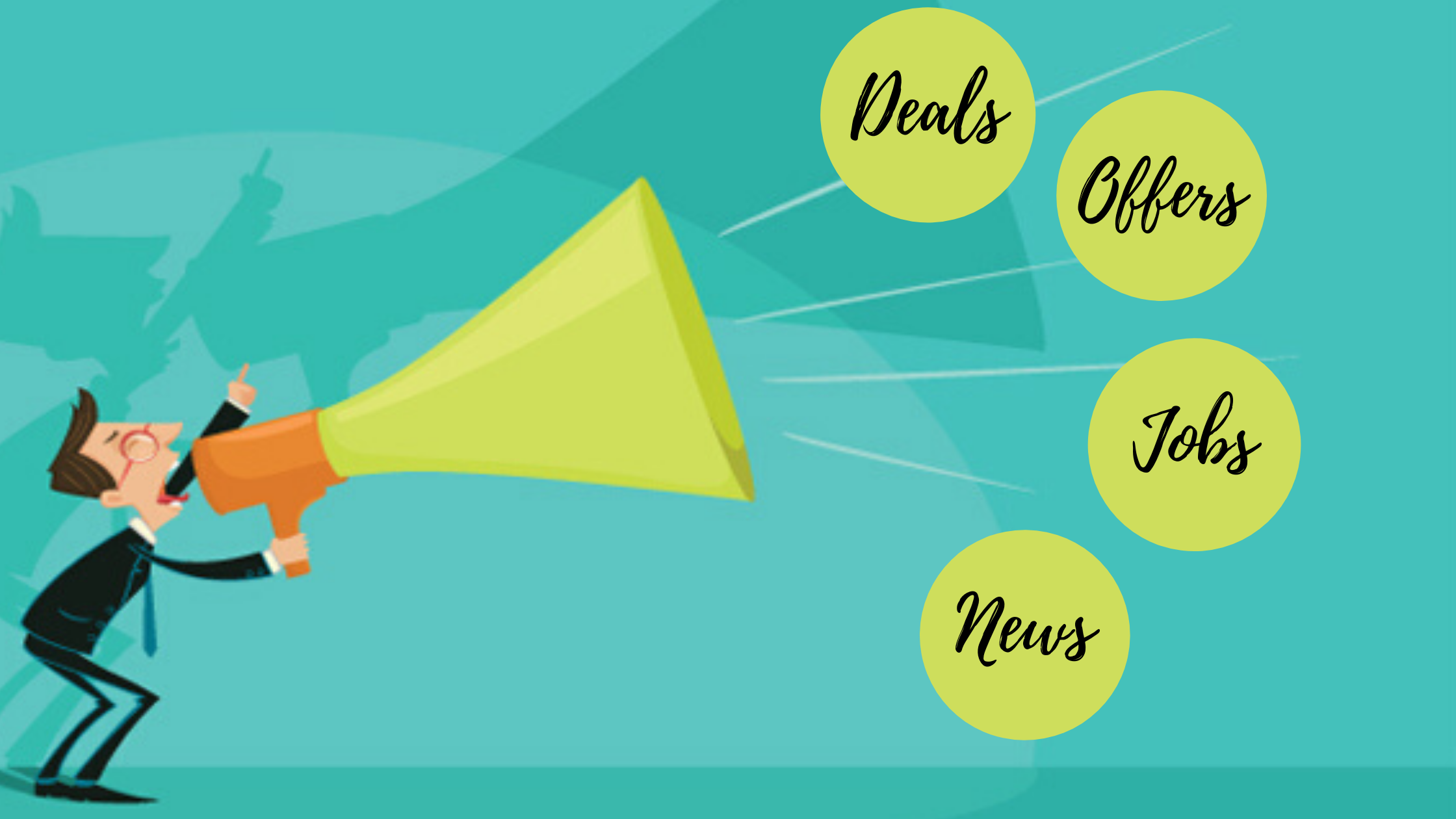 How to stay updated about nearby deals, offers, jobs, and news?